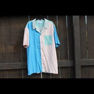 Never Worn Trucker style Color Block Shirt